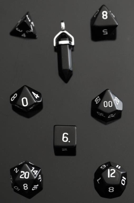 Picture Of Obsidian Dice Set