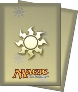 Picture of Magic the Gathering White Mana Sleeves (80)